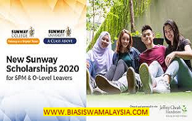 New Sunway Scholarships 2020